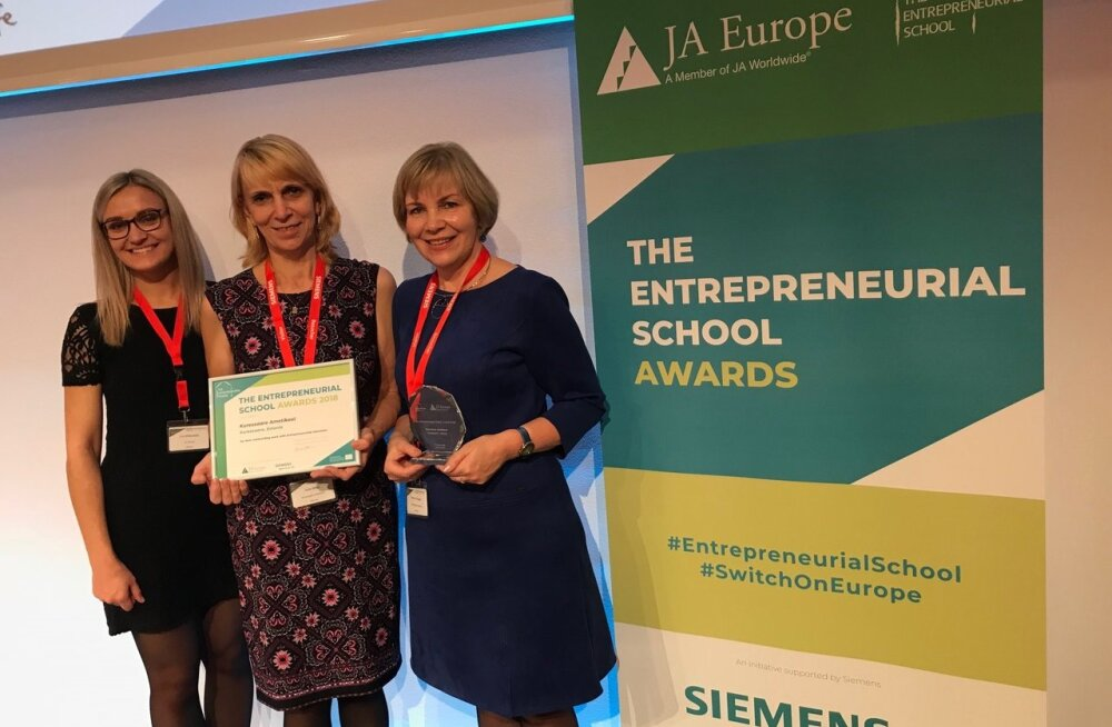 MEIE MAA | Kuressaare ametikool pälvis Euroopa ettevõtliku kooli tiitli