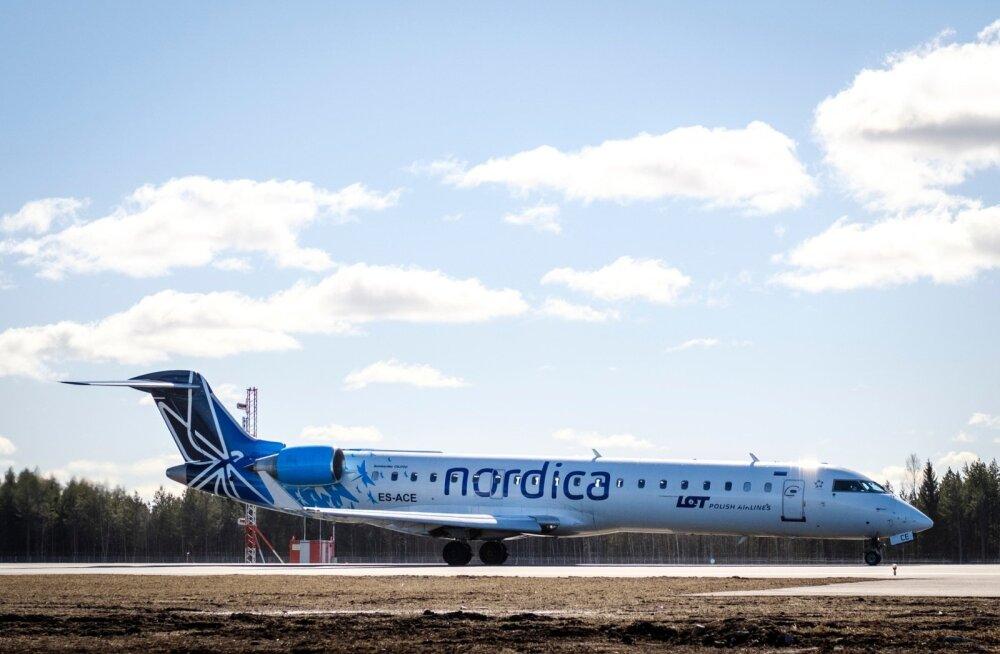 Из-за технических проблем авиакомпания Nordica отменила вчера два рейса