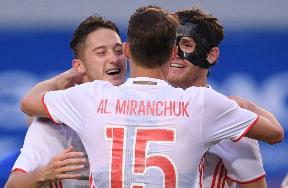 Anton Miranchuk, Alexei Miranchuk ja Mario Fernandes