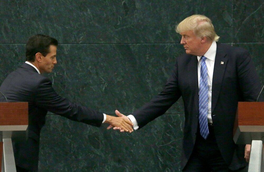 Suvisel Mehhiko-visiidil jäi Trumpi ja president Enrique Peña Nieto vahele märgatav distants.