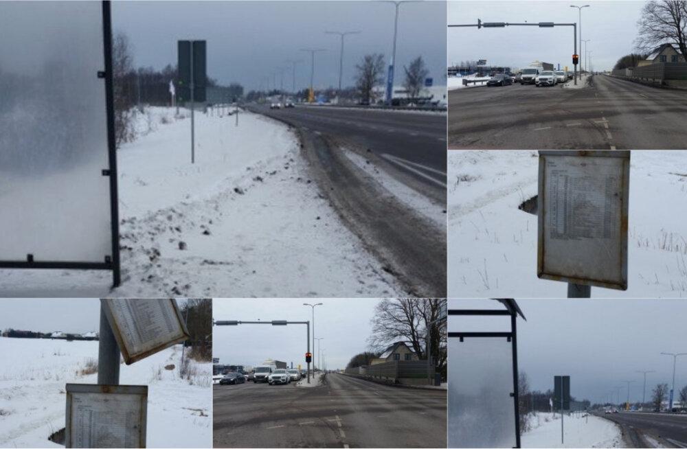 Miks asub bussipeatus sellises kohas, kuhu pääseb jalgsi vaid eluga riskides? Keegi ei tea!