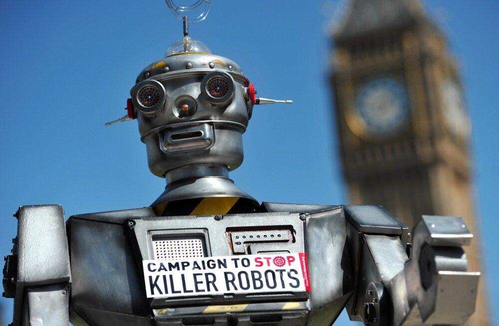 Tapjarobotite vastane meeleavaldus Londonis