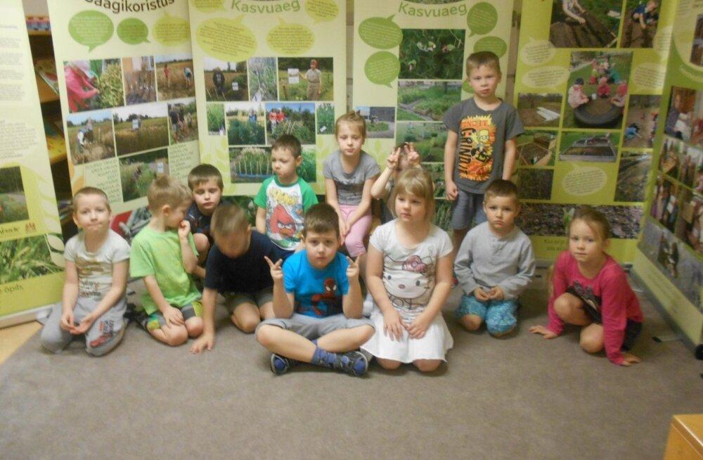 Näitus jõudis ka Puhja lasteaeda Pääsusilm.
