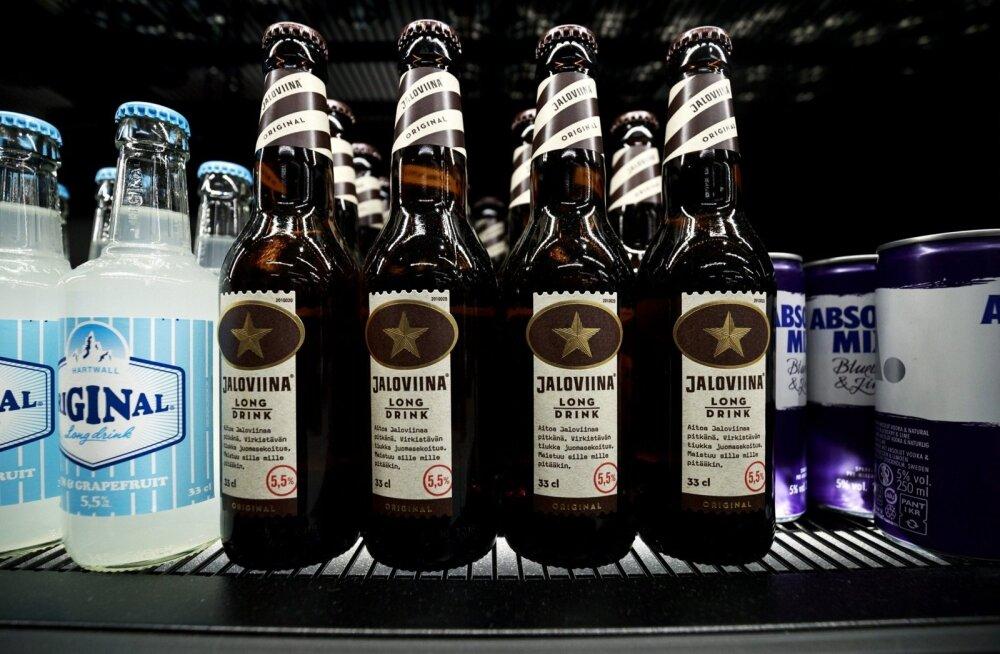 5,5% alkoholisisaldusega joogd Soomes Alko poes. Uuest aastast võib neid jooke müüa ka Soome toidupoodides ja tanklates.