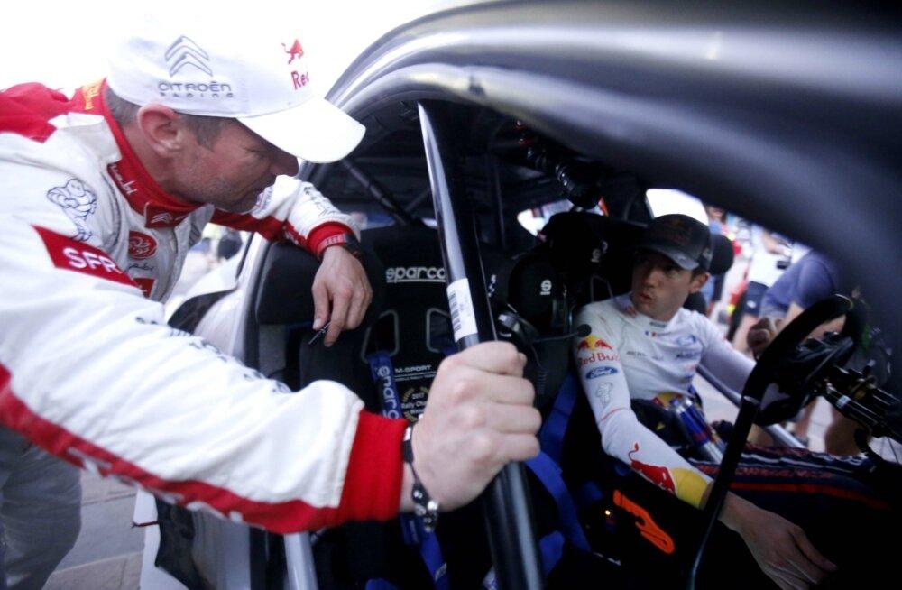 Sébastien Loeb (vasakul) ja Sébastien Ogier on kahepeale kokku võitnud 14 MM-tiitlit.