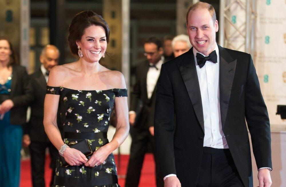 Kate ja William BAFTA auhindadel 2017