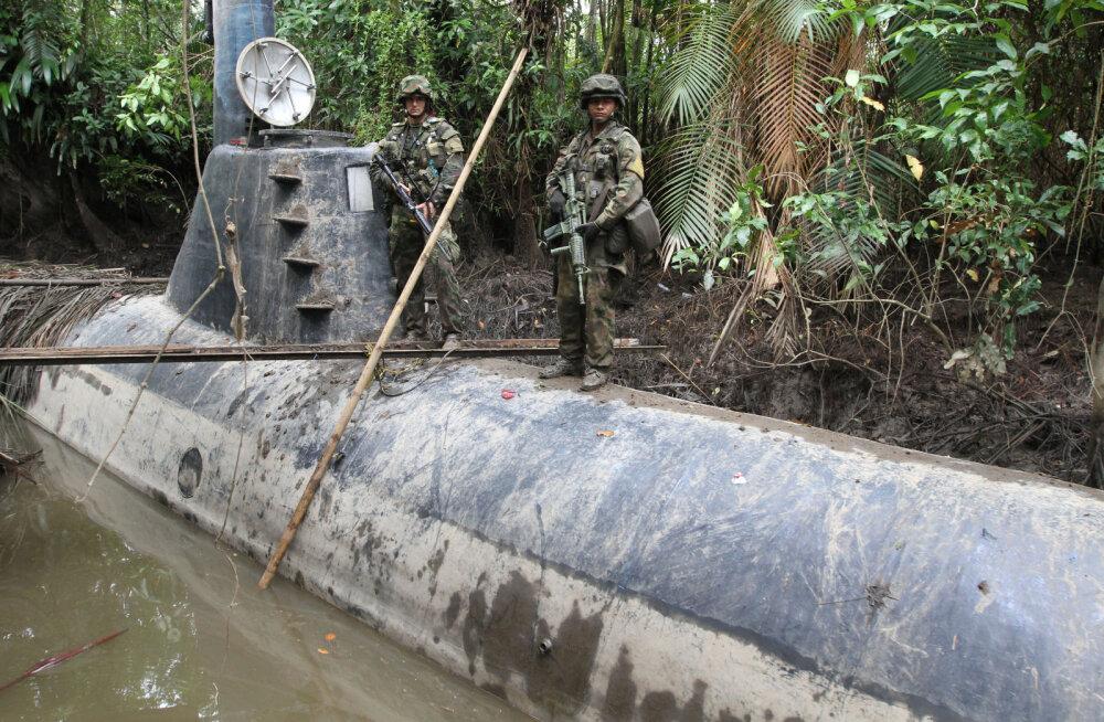 Colombia narkoärikate innovatiivsus aina kasvab: tabatud on nende esimene elektri-allveelaev