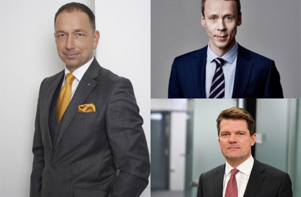 Gunnar Toomemets (vasakul), Erkki Raasuke (ülal), Nils Melngailis (all)