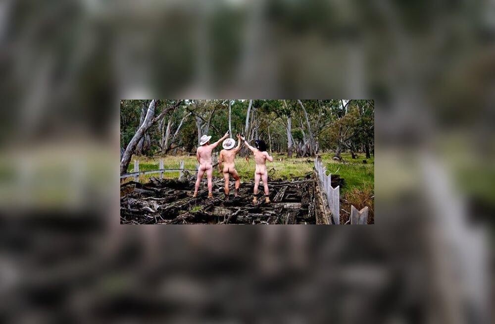 Vahvad FOTOD | Palja pepuga depressiooni vastu! Põllumehed heitsid vaimse tervise nimel riided seljast