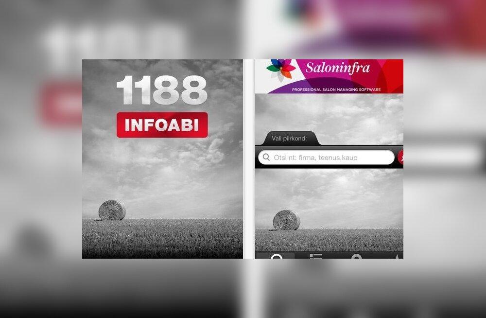 1188 INFOABI rakendus iPhone'ile on eestlaste seas populaarne
