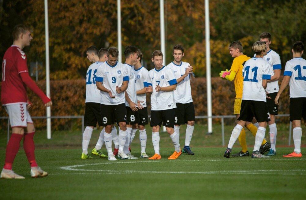 U19 noormeeste koondiste EM-valikturniir Eesti-Taani