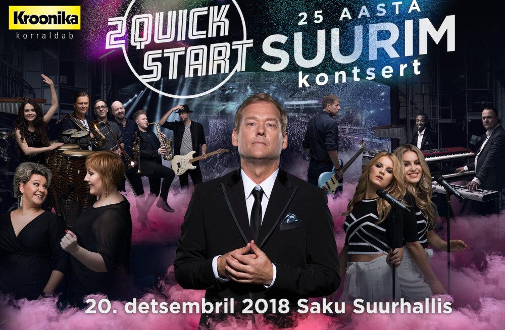Pange vaim valmis! Eesti parim tantsumuusikabänd 2 Quick Start annab aasta lõpus 25 aasta suurima kontserdi
