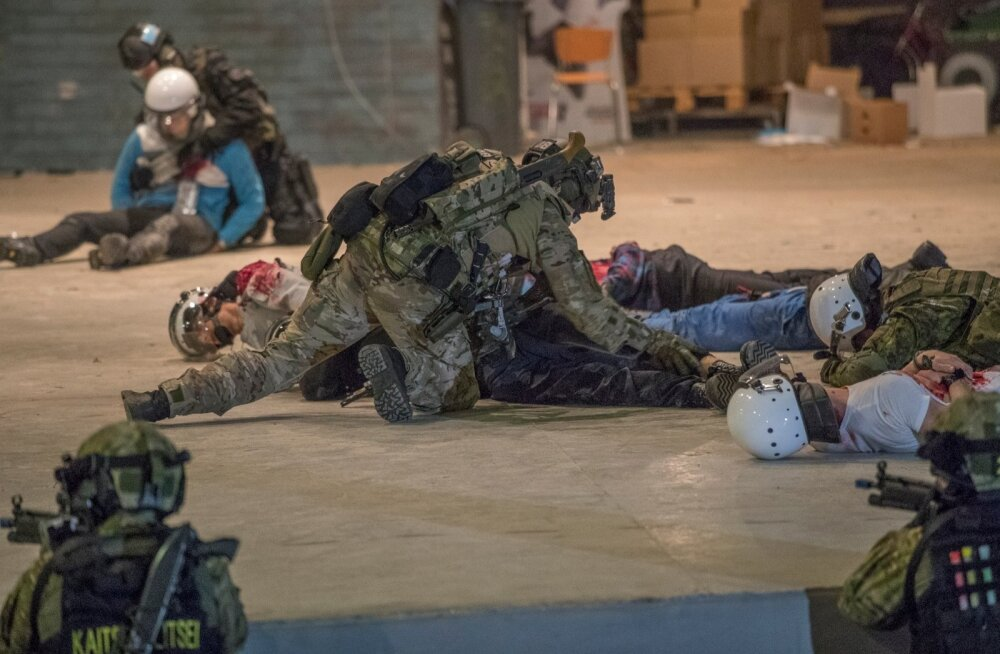 Euroopas toimunud terroriaktid on pannud ka Eesti kõige hullema ärahoidmiseks valmistuma. Fotol möödunud aastal toimunud rahvusvaheline eriüksuste terrorismivastane õppus ATHOS 2016