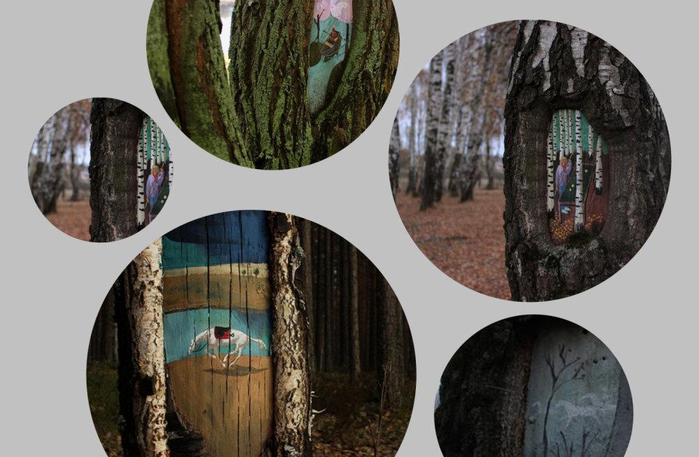 FOTOD | Moskvas elav kunstnik eksponeerib oma maale väga omapärasel ja looduslähedasel moel