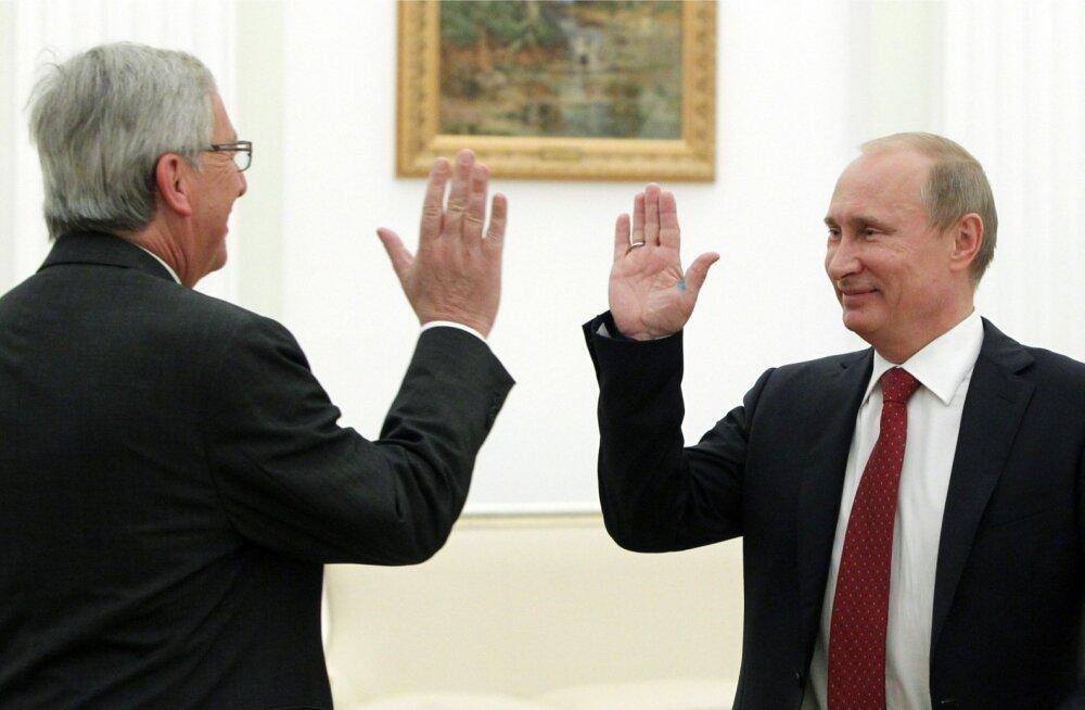 Mälestus 2012. aastast, mil Jean-Claude Juncker veel Luksemburgi peaministrina Vladimir Putiniga kohtus.