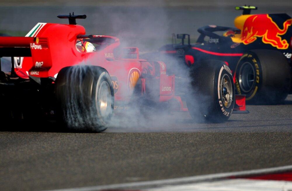 Sebastian Vettel ja Max Verstappen.