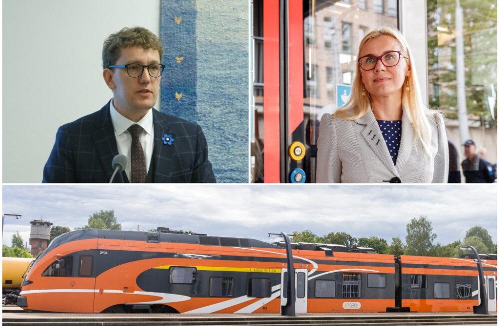 Michal nõustub Simsoniga Tallinn-Pärnu rongiliini osas: raudteed renoveerida pole mõtet, parem oodata Rail Balticu valmimist