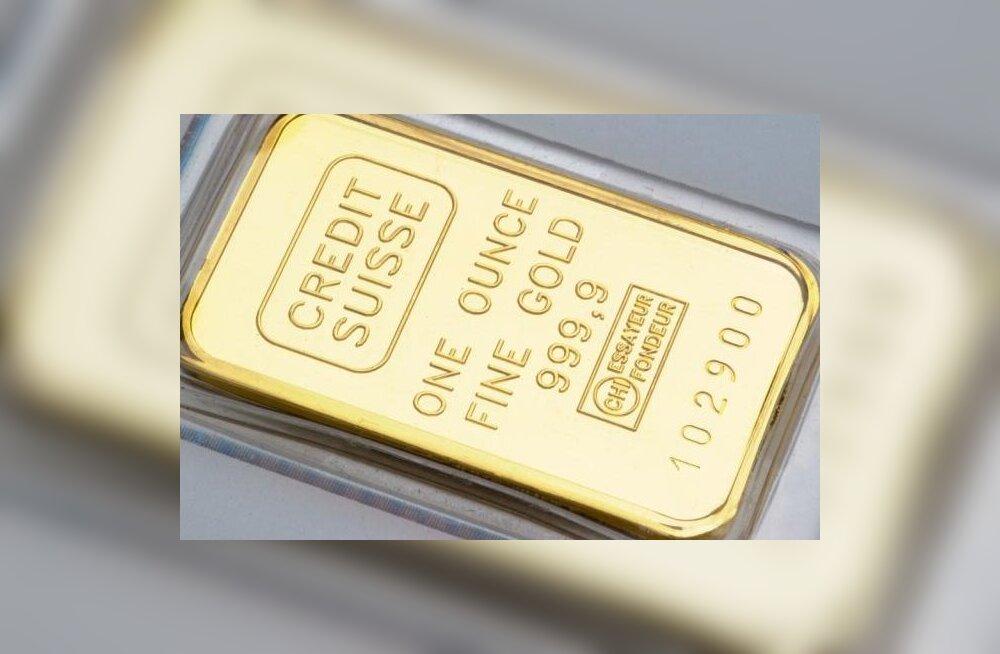 Kulla hind rühkis viimase kahe kuu tippu