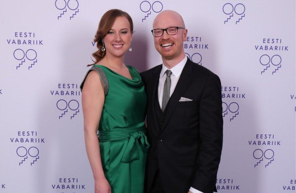 Eesti Laulu peaprodutsent Mart Normet ja pr Britt Kalbus