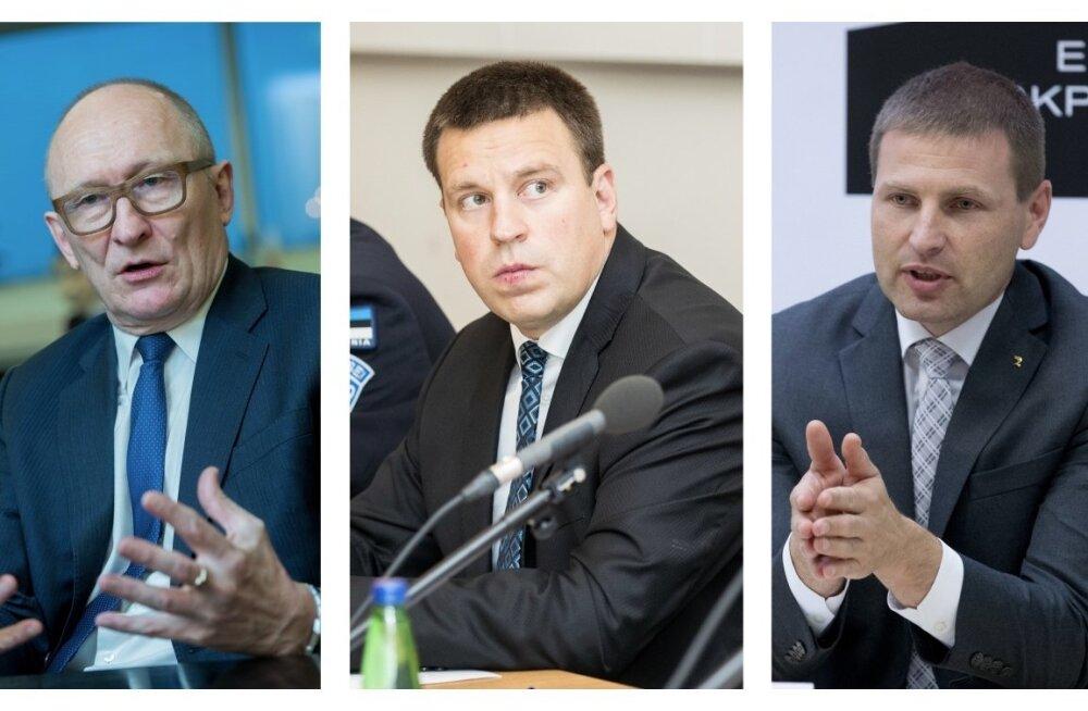 Jaak Aaviksoo, Jüri Ratas ja Hanno Pevkur