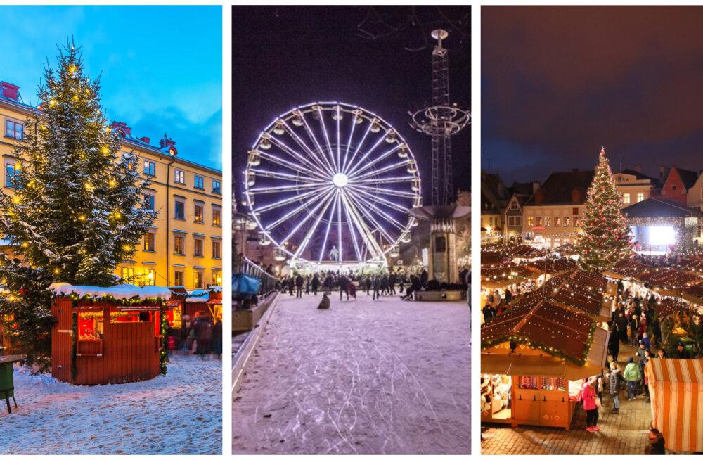 JÕLUTUNNET TEKITAVAD FOTOD   Tallinn vs lähinaabrid: milliseid jõuluturge on tänavu Eesti lähedal võimalik külastada?