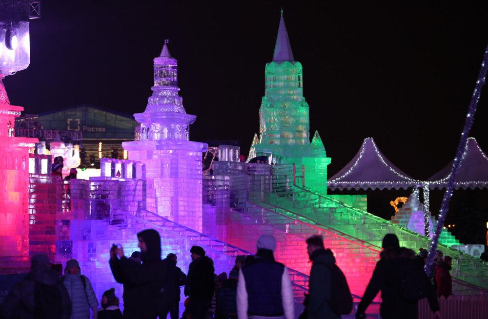 ВИДЕО: В Москве проходит грандиозный ледовый фестиваль, посвященный великим цивилизациям
