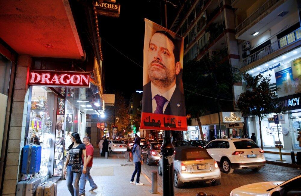 Liibanonlased ootavad peaministrit koju. Kõrgelt arenenud plakatikultuuriga riigi pealinna Beirutisse on ilmunud hulgaliselt Saad Hariri näopilte.