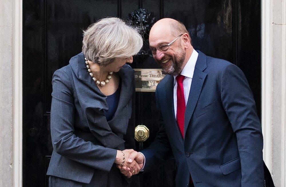 Martin Schulz, Theresa May