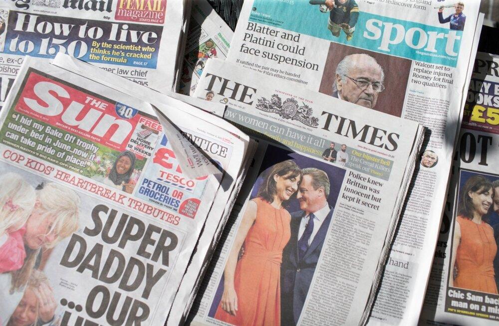Neljapäevased inglise ajalehed