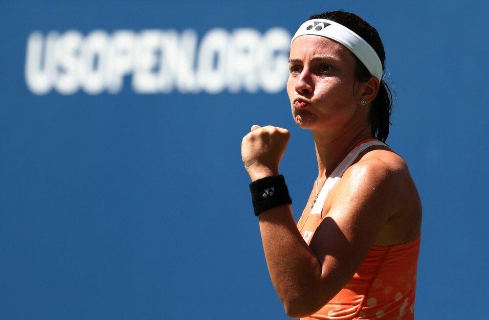 Läti tennisist alistas US Openi veerandfinaalis tiitlikaitsja Stephensi