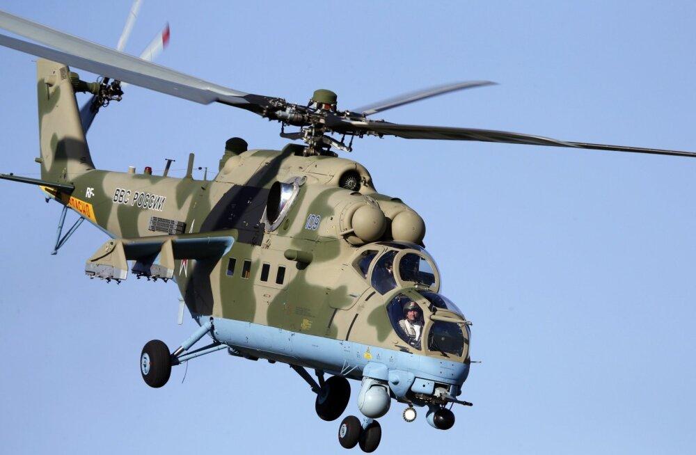 Süürias kukkus alla Vene lahingukopter, mõlemad piloodid hukkusid
