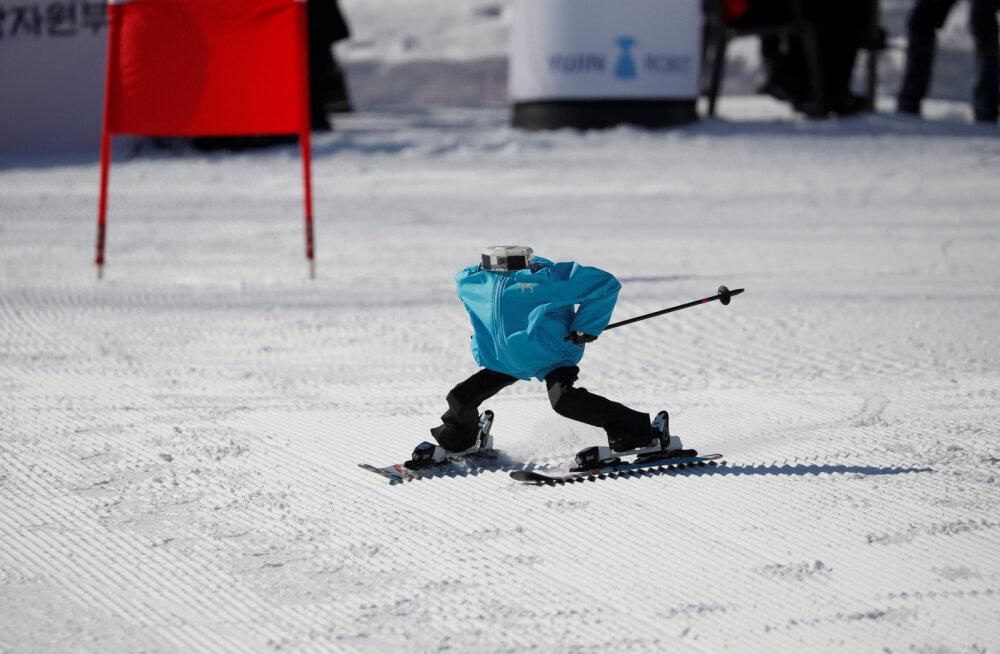 VIDEO   Sportlaste kõrval võistlevad taliolümpial ka robotid