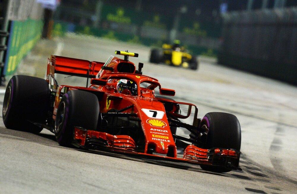VIDEO | Sündmusterohke 2. vabatreening Singapuris: Vettel lõhkus auto, Räikkönen sai 1000 eurot trahvi