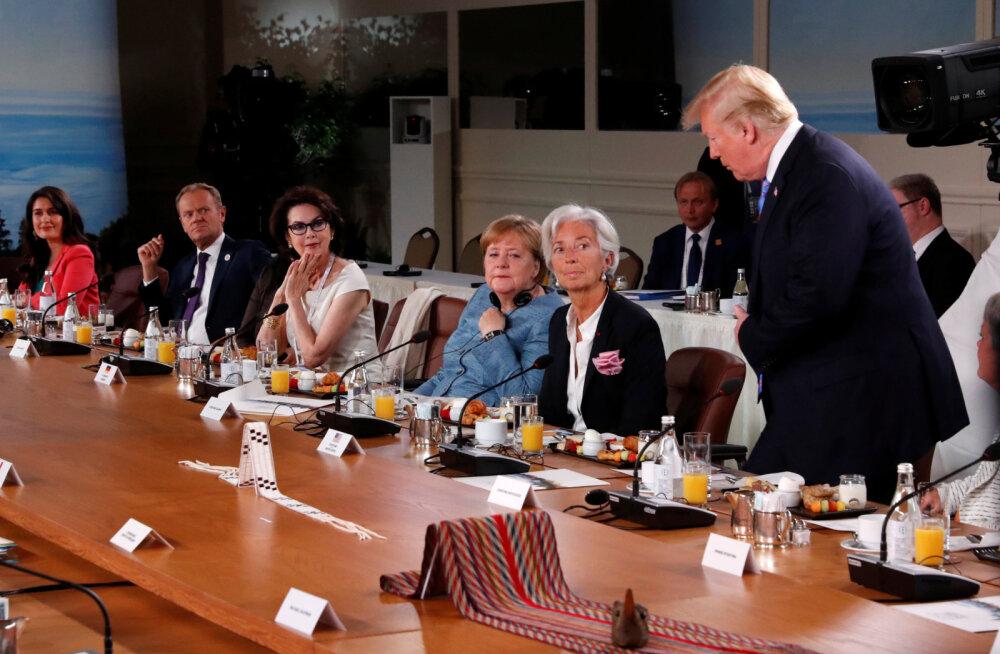 FOTO | Uskumatu nahaalsus! Trump vilistas maailmaliidrite hommikusöögi algusajale ning jäi sujuvalt hiljaks
