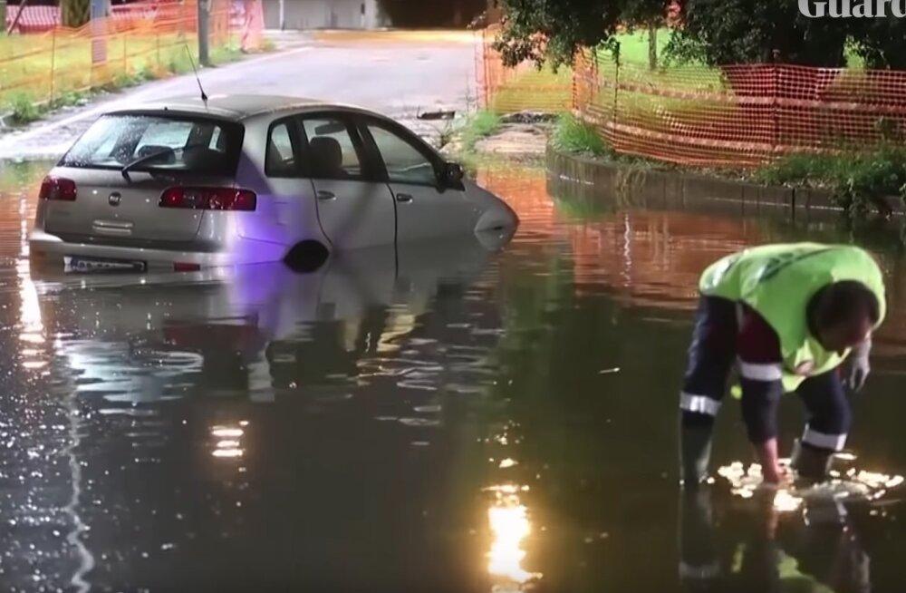 Pöörane VIDEO | Nädalavahetusel tabasid Roomat kõik maailma hädad korraga — äikesetorm, rahe, lörts ja üleujutus!