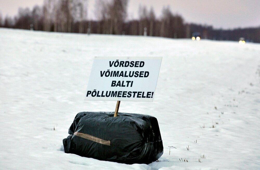 Eesti ja Läti põllumehed süütasid protestilõkked /Ikla piiripunkt