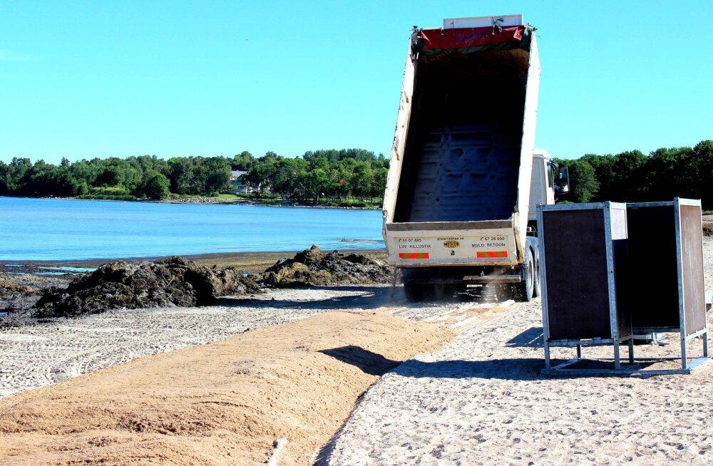 FOTO | Kakumäe randa veetakse juurde 150 tonni liiva