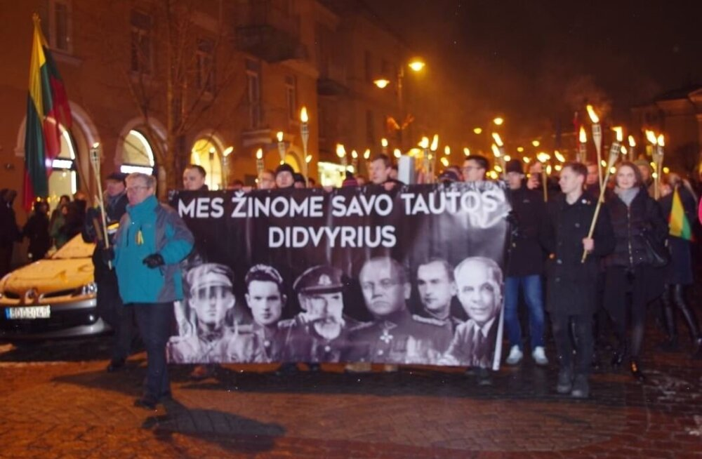 """""""Литву — литовцам!"""" Глава молодежной организации EKRE выступил с речью на шествии националистов в Вильнюсе"""