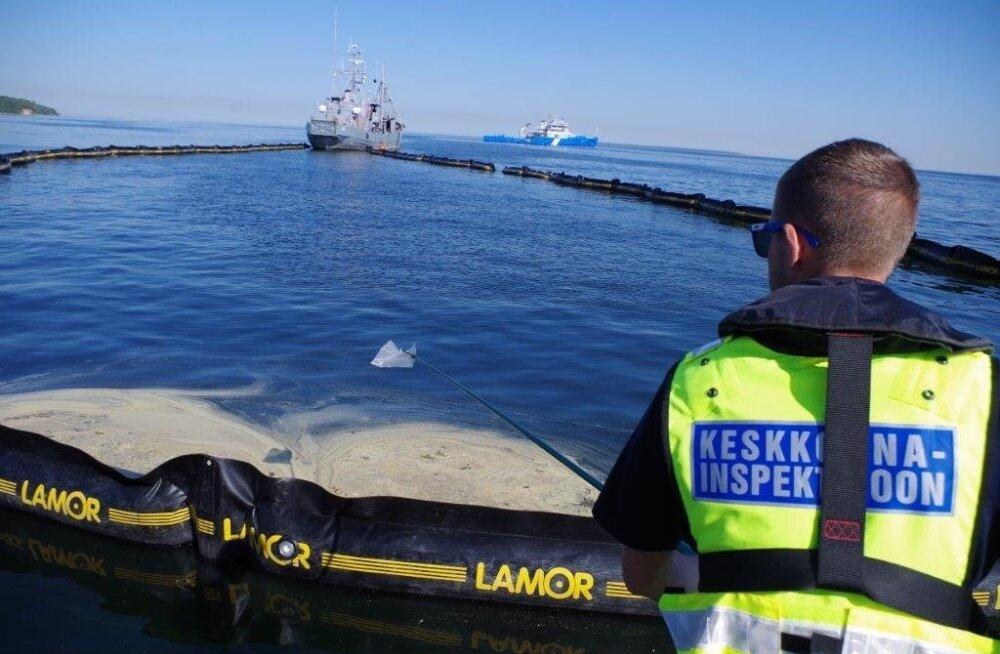 Keskkonnainspektsioon osales 22. mail Kopli lahel toimunud reostustõrjeõppusel.