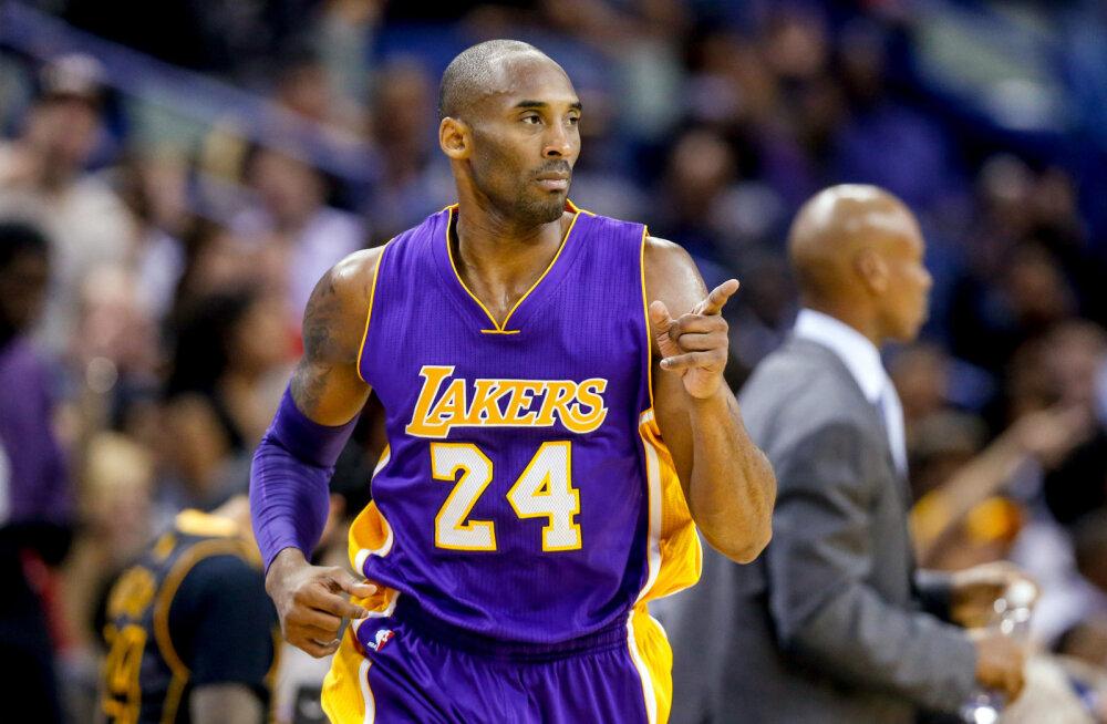 Lakers saatis kaks Kobe Bryanti särginumbrit pensionile