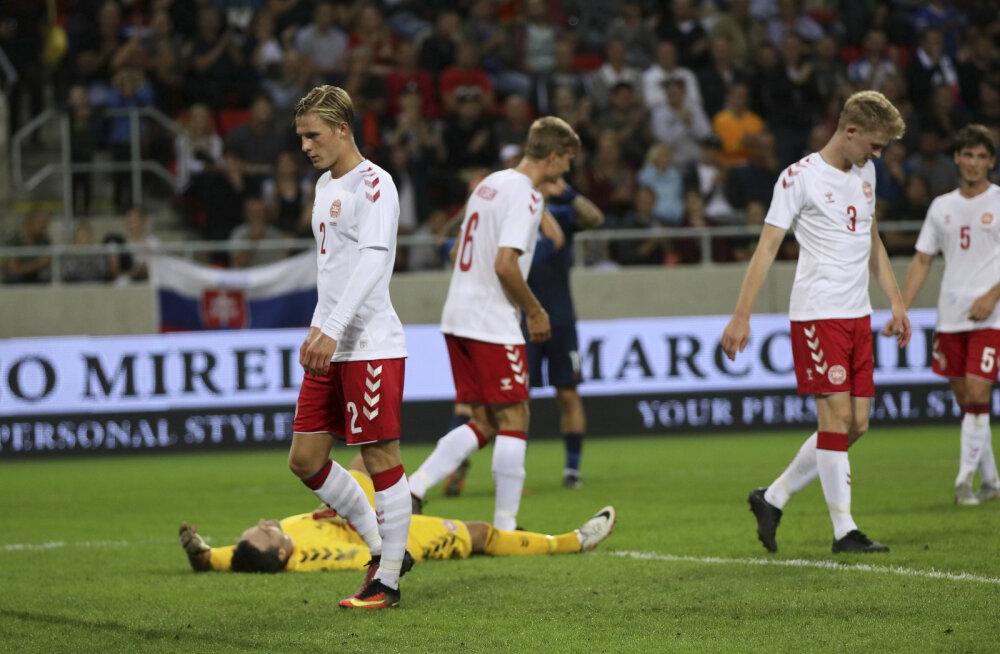 VIDEO   28 protsenti ajast palli vallanud Taani amatöörid said Slovakkialt kindlalt sugeda
