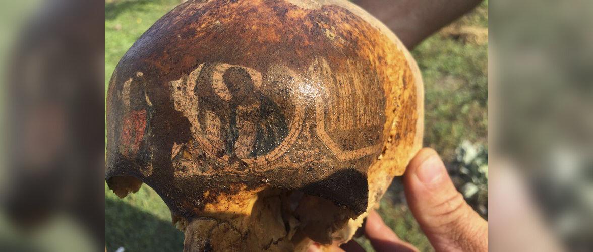На черепе солдата Второй мировой войны нашли изображения святых