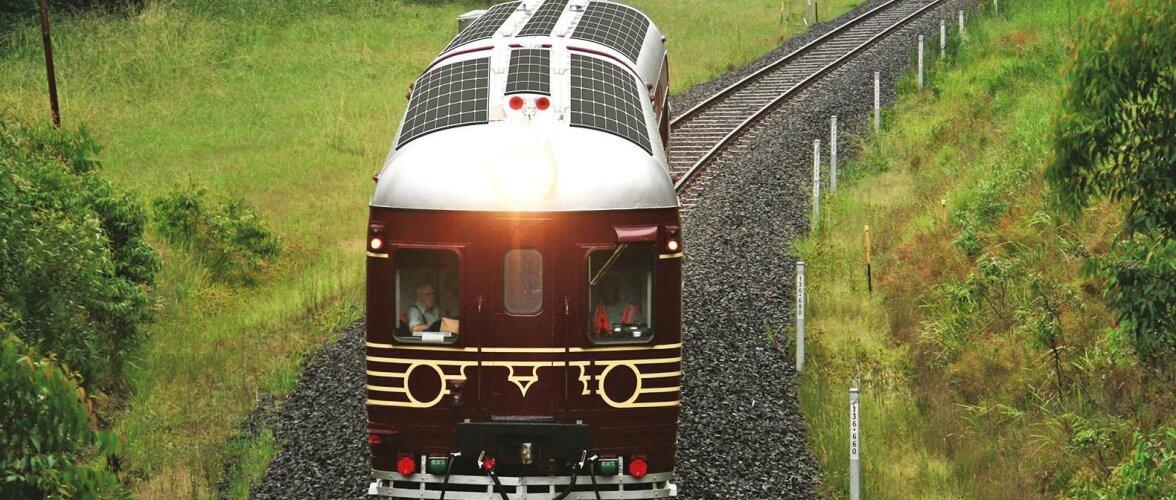 На солнечных рельсах: в Австралии запустили самый экологичный в мире поезд
