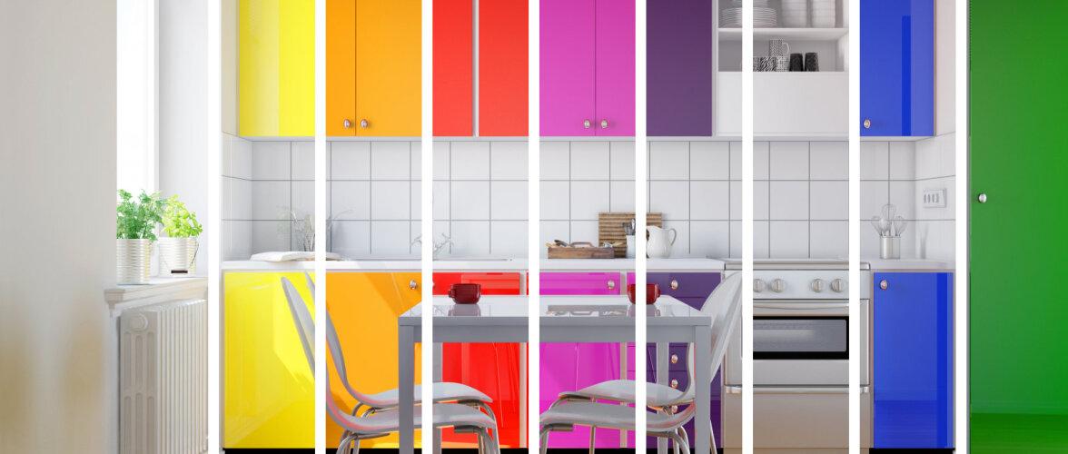 FOTOD │ Rõõmsalt värvilised köögid teevad ära valgetele-hallidele!