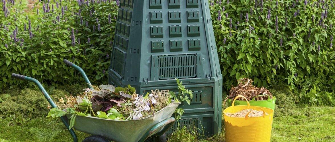 Kompostikast võib ka kena olla.