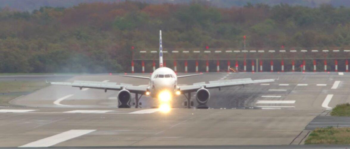 Kõhe VIDEO | Tormine päev Düsseldorfi lennujaamas: vaata keerulisi ülitugeva külgtuulega maandumisi