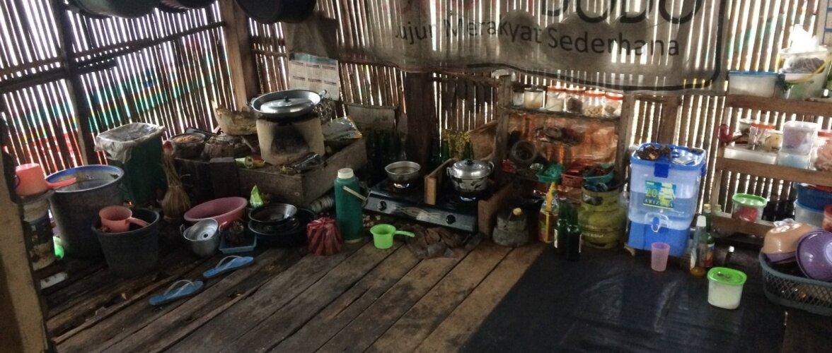 Ühe järve elamu köök-elutuba