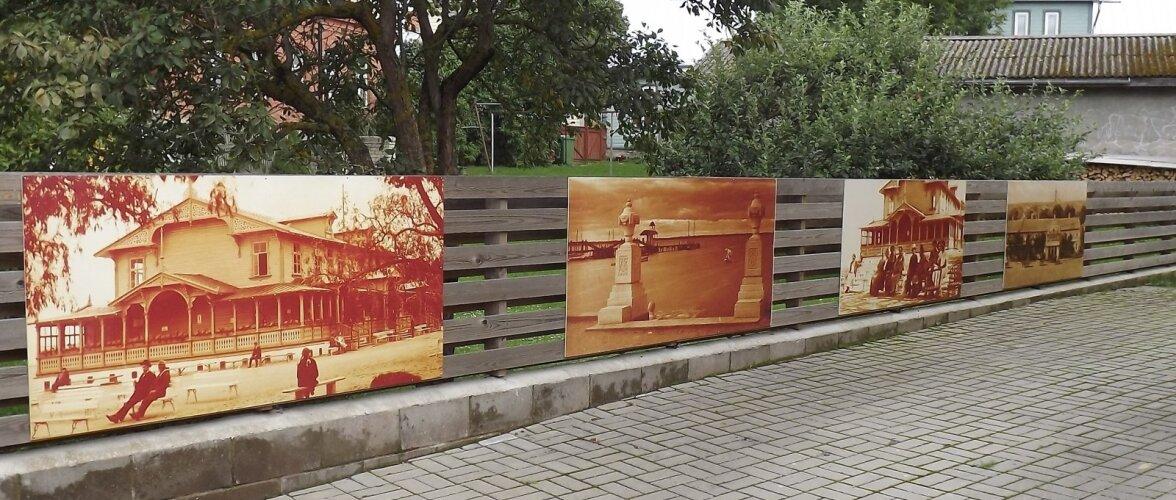 Haapsalule on väga iseloomulikud vanade fotode suurendused kuurortlinna kuldaegadest.