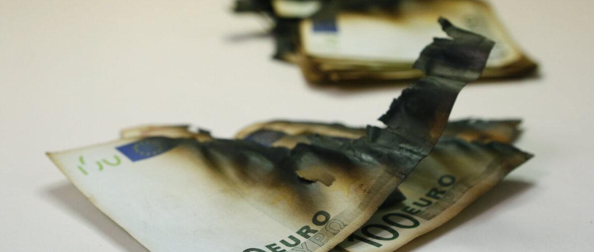 Что делают немцы с испорченными деньгами