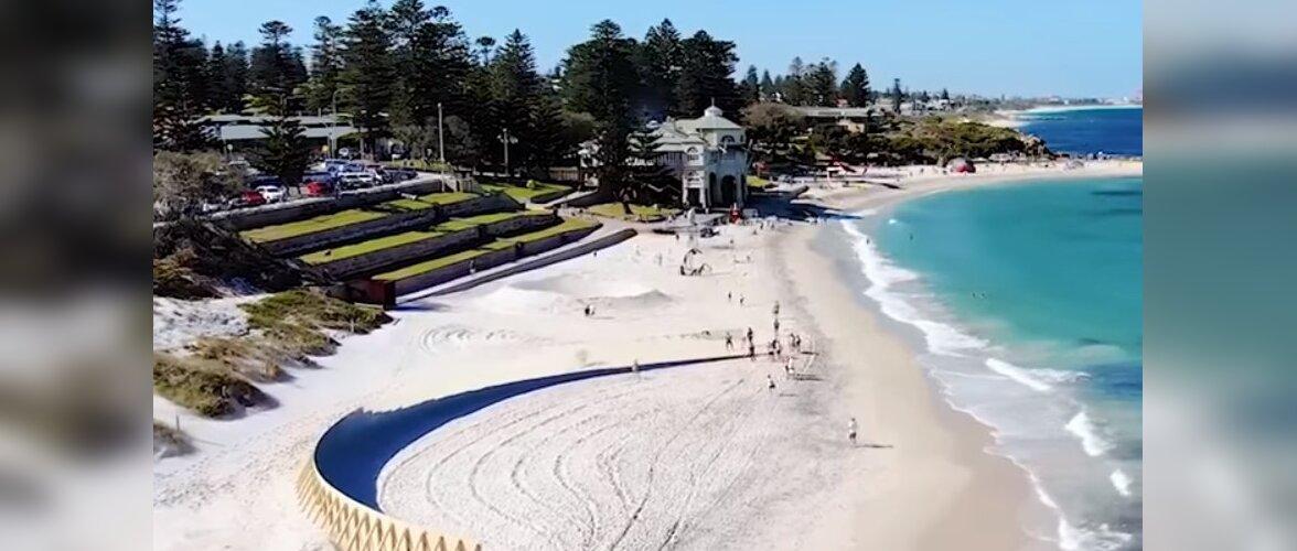 """В Австралии появился необычный """"необитаемый остров"""" посреди пляжа"""